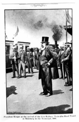 Boksburg, 1888. President Kruger at the opening of the Rand Tram between Johannesburg and Boksburg.