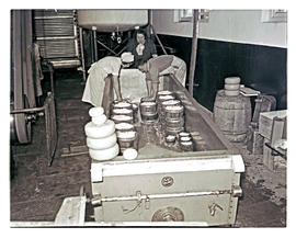 """Aliwal North, 1938. Cheese making."""