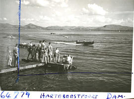 """Pretoria district, 1956. Boating at Hartbeespoort dam."""