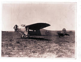"""1930. Fokker Super Universal NC98K, purchased in the USA and registered as ZS-ABR to serve ..."