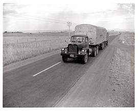 Bloemfontein district, 1963. SAR MT8104 truck with trailer.