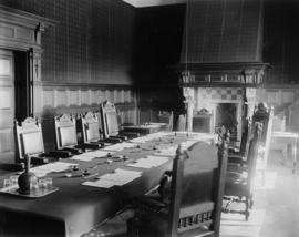 Bloemfontein, May and June 1899. Room at the railway offices where conference was held with Presi...
