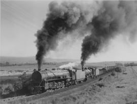 Machadodorp district, 1956. SAR Class 15CB and SAR Class 12A hauling a petrol train.