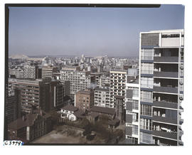 Johannesburg, 1962. View of city from Hillbrow.