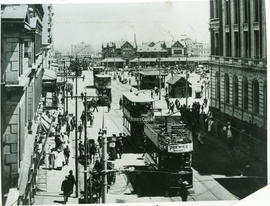 Johannesburg. Street with trams.