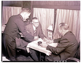 """1950. Blue Train dining car."""