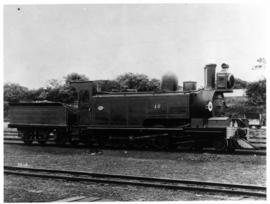 "1888. NGR No 48 ""Havelock"". Natal's first tender locomotive built in Durban railwa..."