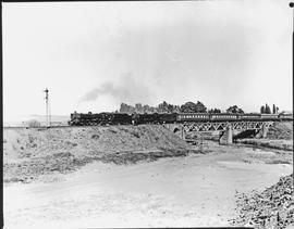 Vryheid district, 1967. Passenger train crossing bridge.