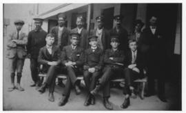 Ashton, 1921. Stationmaster Booker and staff.