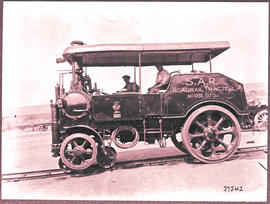 Naboomspruit district, circa 1924. SAR roadrail tractor No RR 973.