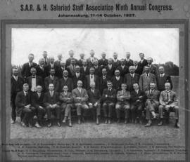Johannesburg, 11-14 October 1927. Ninth Annual Congress of the SAR&H Salaried Staff Association.