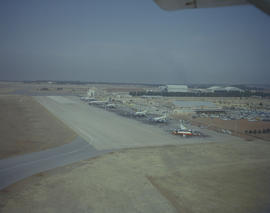 Johannesburg, 1960. Jan Smuts Airport. Aircraft lined up on the apron.
