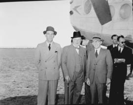 Johannesburg, September 1945. Palmietfontein. Arrival of Avro York G-AGNR with General Manager Ma...