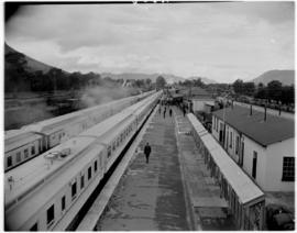 Queenstown, 6 March 1947. Royal Train and Pilot Train.