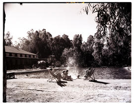 """Aliwal North, 1952. Bathers at hot springs resort."""