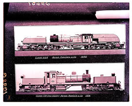 SAR Class GB (2nd order) No 2162 (lower) and SAR Class GEA No 4002 (upper), all built by Beyer Pe...
