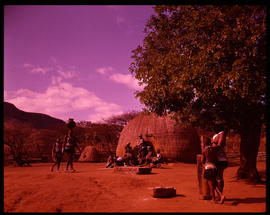 Pietermaritzburg district, 1964. Traditional Zulu village in the Valley of a Thousand Hills.