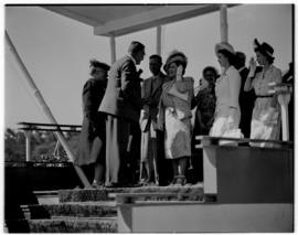 Stellenbosch, 20 February 1947. Royal family receiving dignitaries.