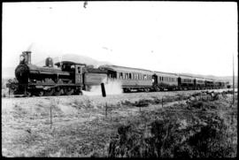 CGR 6th Class with Zambesi Express Train en route to the Victoria Falls. (From CGR Post Card set)