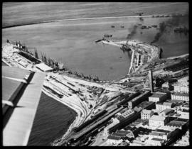 Port Elizabeth. Aerial view of harbour.