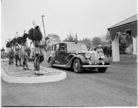 Swaziland, 25 March 1947. Royal family leaves the stadium.