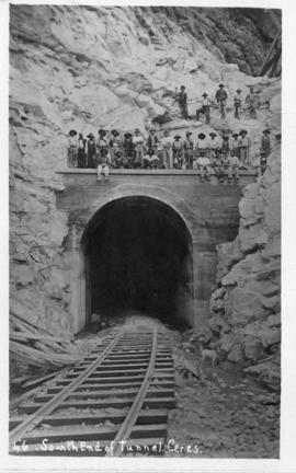 Ceres. Southern end of tunnel with construction workers.