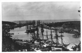 East London. Tall sailing vessels in Buffalo Harbour.