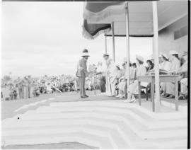Swaziland, 25 March 1947. Royal family arrives at the stadium.