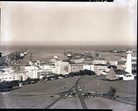 Port Elizabeth, 1967. General view of Port Elizabeth harbour.