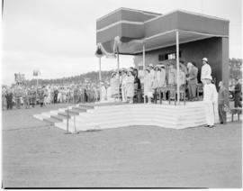 Swaziland, 25 March 1947.  Royal family on dais.