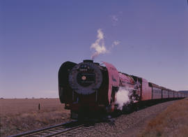 Bloemfontein district, 1989. SAR Class 26 No 3450 'Red Devil'. [D Dannhauser]