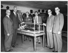 Johannesburg, 23 March 1960. Donation of models of electrical locomotives by AEI to the Railway M...