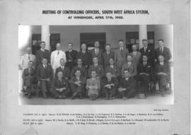 Windhoek, 17 April 1940. Meeting of controlling officers, South-West Africa system.
