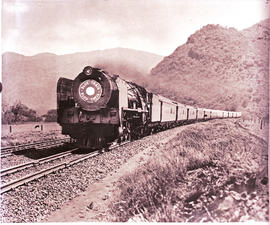 """1951. SAR Class 15F with Blue Train on double track."""