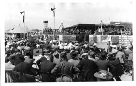 Johannesburg, 10 December 1943. Laying of foundation stone for Railway Training College at Essele...
