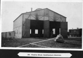 Page 27. Kalkfontein. Engine shed at station.