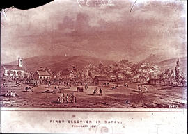 Pietermaritzburg, 1857. First election in Natal. (Copy of engraving)