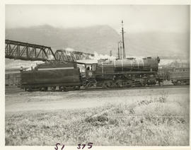 Cape Town, 1947. SAR Class S1 No 375 'Voortrekker' shunting. (See P2045)