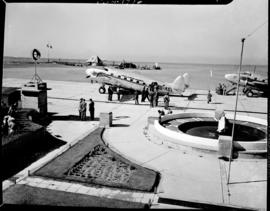 Johannesburg, December 1944. SAA Inauguration of new service in Union at Rand Airport. SAA Lockhe...