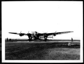 Circa 1945. Avro York on runway.