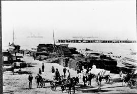 Port Elizabeth. Loading railway material at Port Elizabeth Harbour.