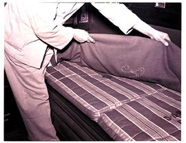 """1950. Bedding assistant at work."""