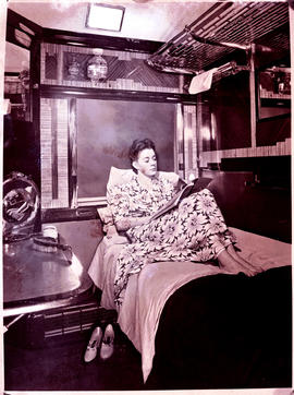 """1946. Blue Train compartment scene."""