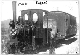 CGR Krauss 0-4-0wt 'Koppel' hauling Medical Officer's coach.