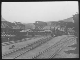 Cape Town, 1883. Railway station.