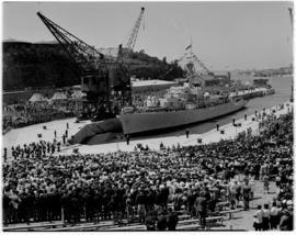 East London, 3 March 1947. Princess Elizabeth Graving Dock at official naming ceremony.