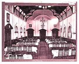 Bloemfontein. Interior of Hamilton Hall at Grey College.