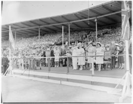 Port Elizabeth, 26 February 1947. Royal family at St George's Park.