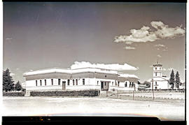 """Aliwal North, 1938. Town Hall and Market Hall."""