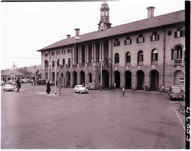 Pretoria, 1951. Front view of railway station..